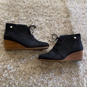 Dr Scholls Black Lace Up Ankle Boots Booties